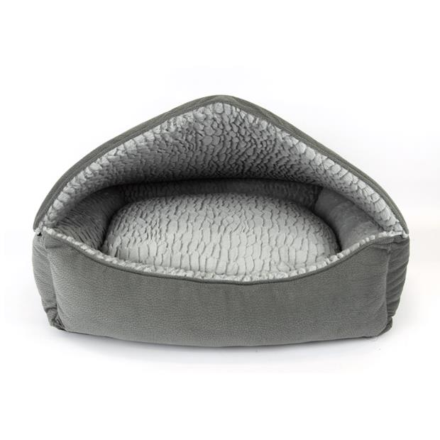 Ts Canopy Plush Bed Grey Each Pet: Dog Category: Dog Supplies  Size: 2.4kg Colour: Grey  Rich...