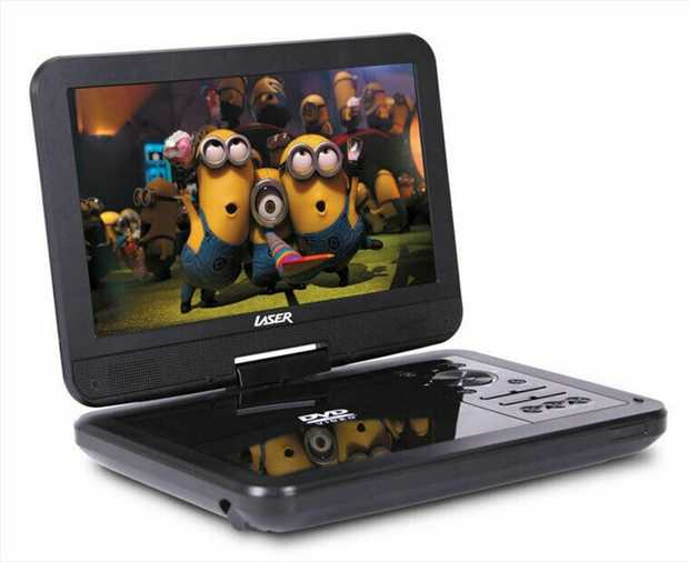 "With a big 10"" super bright colour LCD screen, this portable DVD / CD player can be taken anywhere..."