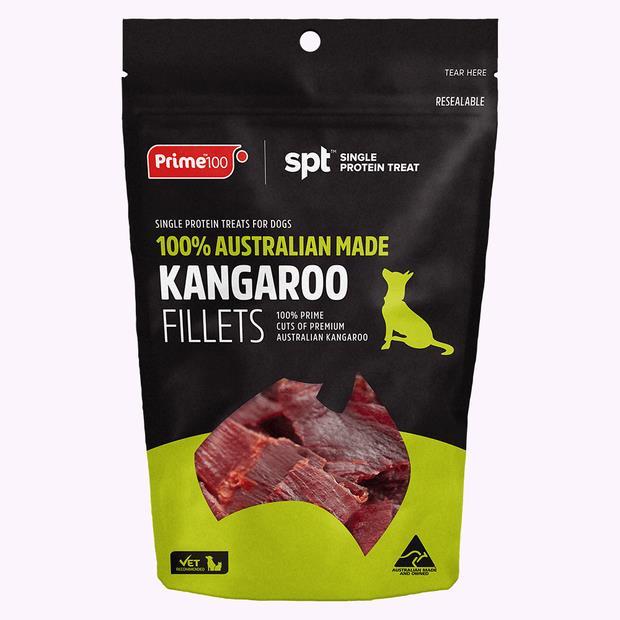 Prime100 Kangaroo Fillet Treat 100g Pet: Dog Category: Dog Supplies  Size: 0.1kg  Rich Description:...