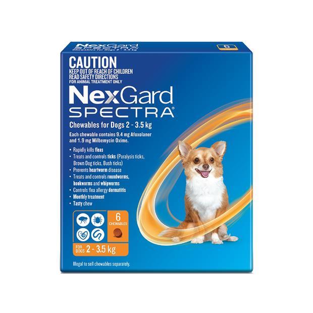 Nexgard Spectra Very Small Dog 6 Pack Pet: Dog Category: Dog Supplies  Size: 0.2kg  Rich Description:...