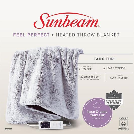 6 Heat Settings Fast Heat Up Faux Fur Heat Settings: 6 Fast Heat Up: Yes Faux Fur: Yes Colour: Grey
