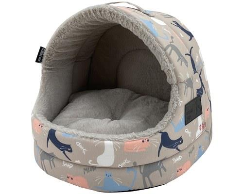 LA DOGGIE VITA CATISSE TAUPE HOODEDThis cat house is the purrrfect place for a catnap. With the sturdy...