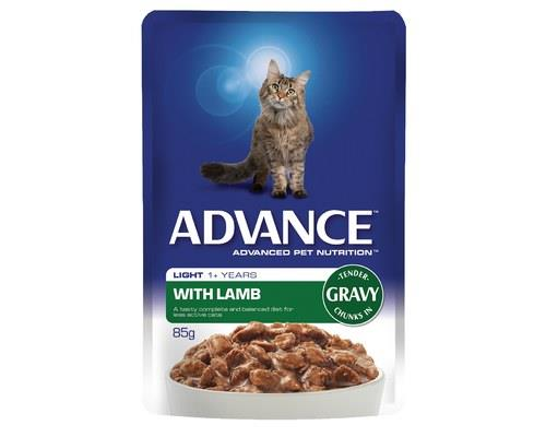 ADVANCE ADULT CAT 1+ YEARS LIGHT WITH LAMB IN GRAVY | 85g x 12There's a reason it's called...