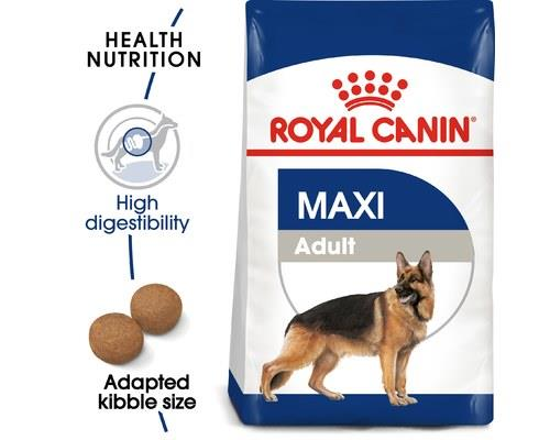 ROYAL CANIN MAXI ADULT DOG DRY FOOD 4KGThis formula is designed for adult large breed dogs (26-44kg)...
