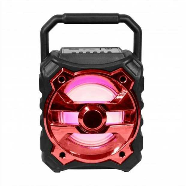 Laser Bluetooth Speaker (Red) lets you enjoy loud and crisp music anywhere you like. It boasts a...