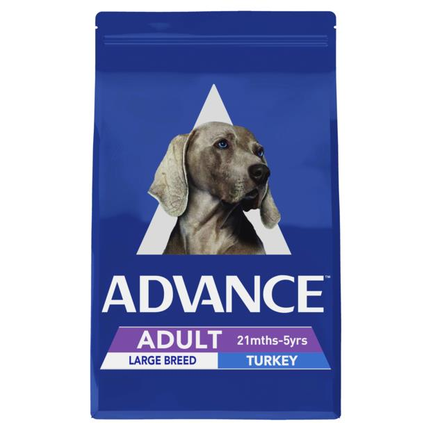 Advance Adult Large Breed Dry Dog Food Turkey 15kg Pet: Dog Category: Dog Supplies  Size: 15kg  Rich...