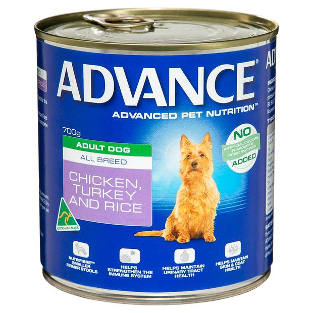 Advance Adult Chicken Turkey And Rice Wet Dog Food Cans 12 X 700g Pet: Dog Category: Dog Supplies ...