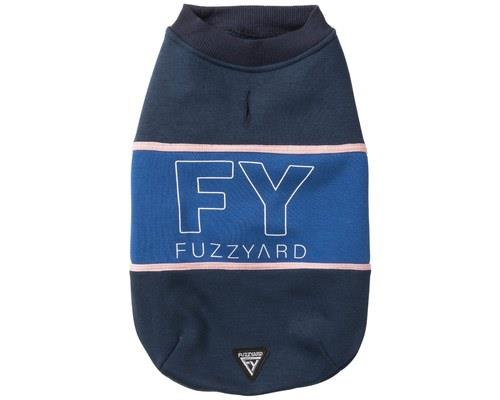 FUZZYARD TRACK SWEATER NAVY BLUE SIZE 6High quality cotton, a pop of contrasting colours across the...