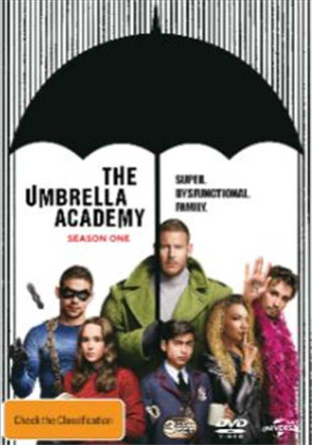 Umbrella Academy - Season 1 DVD         Super. Dysfunctional.