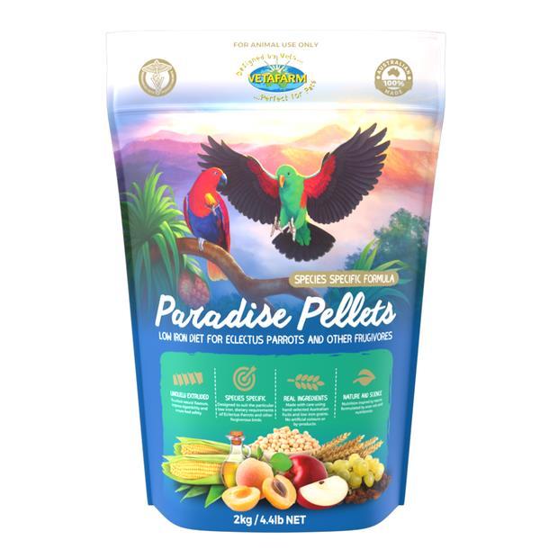 Vetafarm Paradise Pellets 2kg Pet: Bird Category: Bird Supplies  Size: 2kg  Rich Description: Suitable...