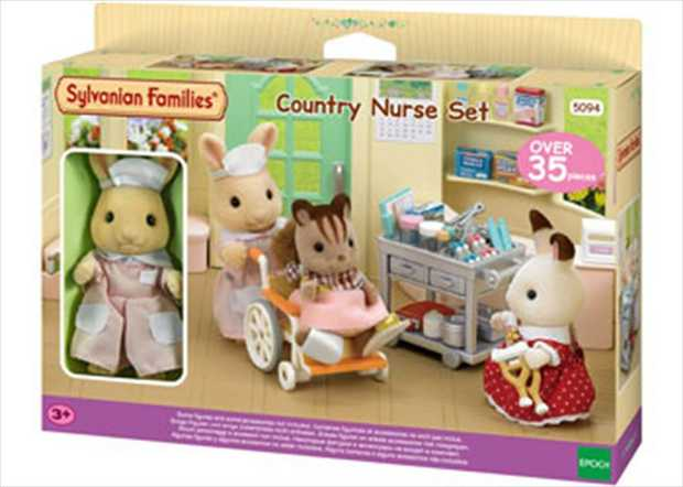 Kate Periwinkle is a nurse and helps her husband at the Country Clinic. Set includes the Milk Rabbit...