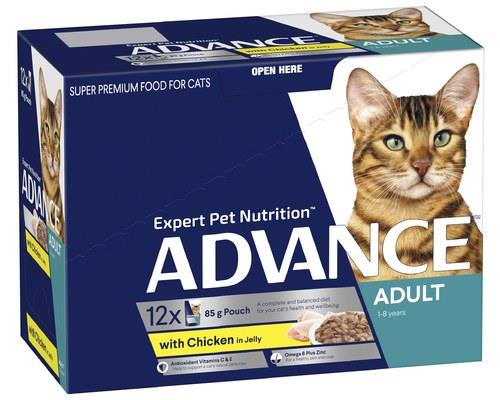 ADVANCE ADULT CAT 1+ YEARS WITH CHICKEN & TURKEY IN JELLY | 85g  x 12There's a...