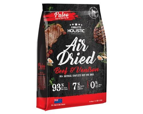 ABSOLUTE HOLISTIC AIR DRIED DOG FOOD - BEEF & VENISON 1KGThe Absolute Holistic Air Dried Dog Treat...