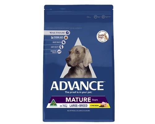 ADVANCE ADULT DOG LARGE+ BREED MATURE CHICKEN 15KGADVANCE™ Mature Large+ Breed Dry Dog Food is a...