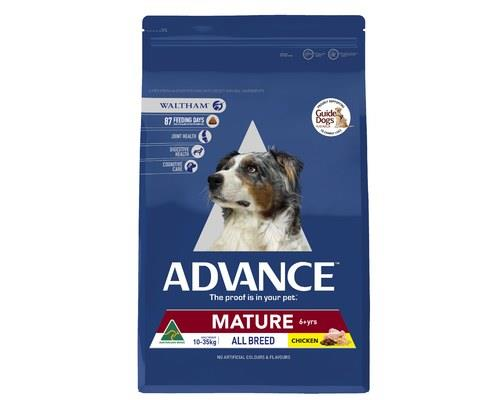 ADVANCE ADULT DOG ALL BREED MATURE CHICKEN 15KGADVANCE is scientifically formulated to help improve dog...