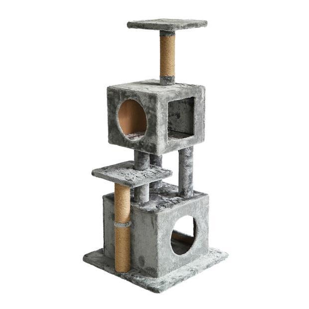 The Catsentials Dual Condo Cat Tree Grey Each Pet: Cat Category: Cat Supplies  Size: 8.7kg Colour: Grey...
