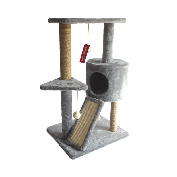 The Catsentials Cat Scratch And Rest Station Grey Each Pet: Cat Category: Cat Supplies  Size: 8.7kg...