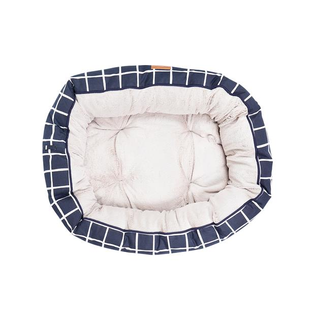 Mog And Bone 4 Seasons Reversible Bed Navy Check Large Pet: Dog Category: Dog Supplies  Size: 2kg...