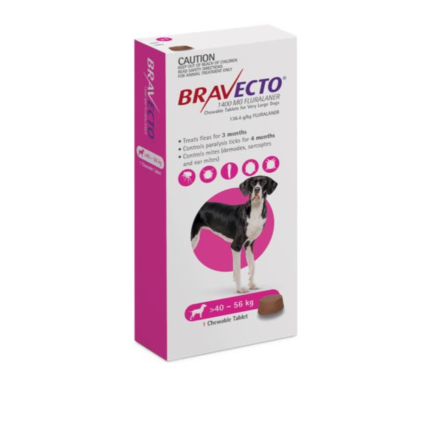 Bravecto Very Large Dog Purple Protection 12 Month Pet: Dog Category: Dog Supplies  Size: 0.8kg  Rich...