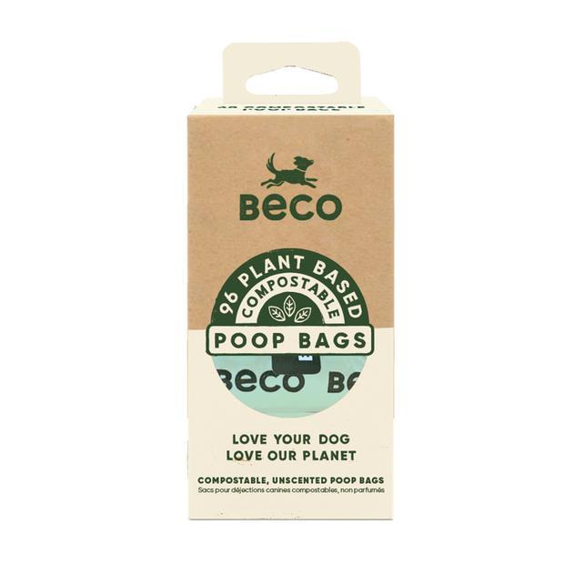 Beco Bags Compostable 96 Pack Pet: Dog Category: Dog Supplies  Size: 0.3kg  Rich Description: Beco pet...