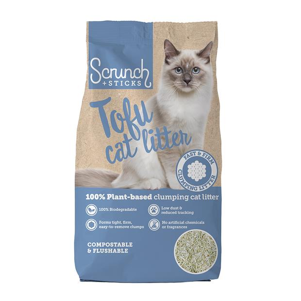 Scrunch And Sticks Natural Soy Pellet Clumping Cat Litter 5kg Pet: Cat Category: Cat Supplies  Size:...