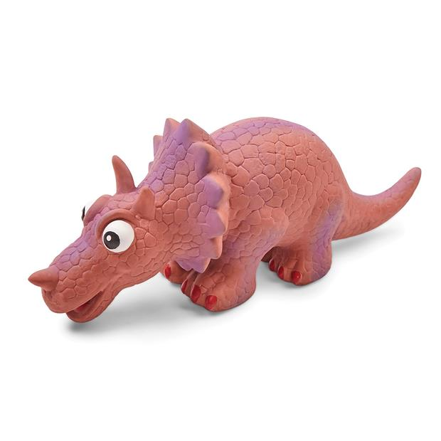 Kazoo Latex Triceratops Dog Toy Medium Pet: Dog Category: Dog Supplies  Size: 0.1kg Material: Latex...