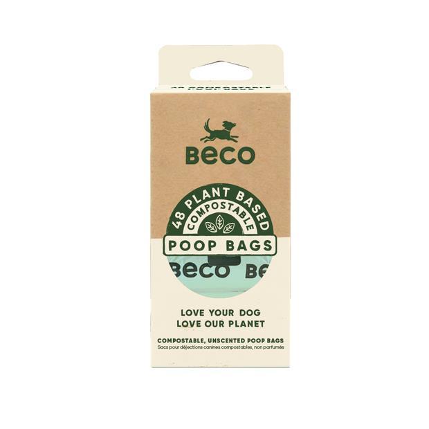 Beco Bags Compostable 48 Pack Pet: Dog Category: Dog Supplies  Size: 0.1kg  Rich Description: Beco pet...