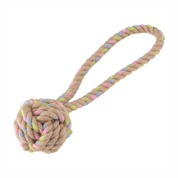 Beco Hemp Rope Ball With Loop Large Pet: Dog Category: Dog Supplies  Size: 0.2kg  Rich Description:...