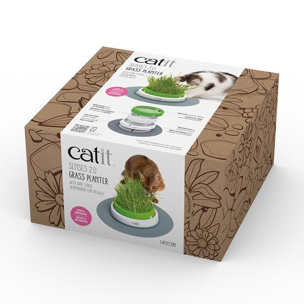 Catit Senses Grass Planter Each Pet: Cat Category: Cat Supplies  Size: 0.6kg Colour: Green  Rich...