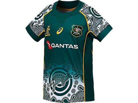 Get behind the boys in the official WALLABIES REPLICA ALTERNATE JERSEY featuring a Indigenous design on...