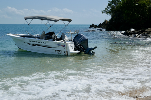 """Alloy Trailer with swing away drawbar, new remote control boat winch, electric anchor winch, 7""""..."""