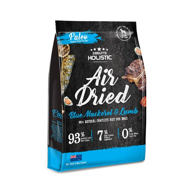 Absolute Holistic Air Dried Dog Food Blue Mackerel And Lamb 1kg Pet: Dog Category: Dog Supplies  Size:...