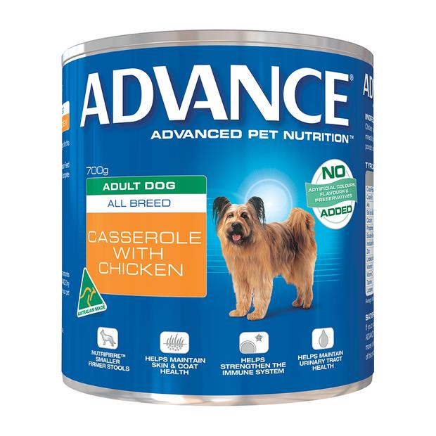 Advance Adult Casserole With Chicken Wet Dog Food Cans 12 X 400g Pet: Dog Category: Dog Supplies  Size:...