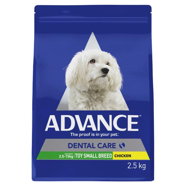 Advance Adult Dental Toy Small Breed Dry Dog Food Chicken 4 X 2.5kg Pet: Dog Category: Dog Supplies ...