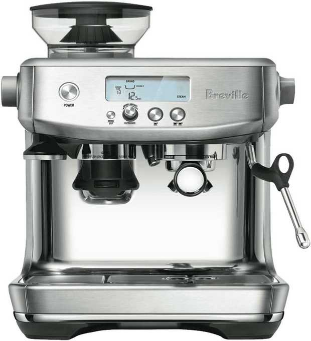 This Breville coffee machine has an espresso maker, so you can make coffee drinks easily. It has a...