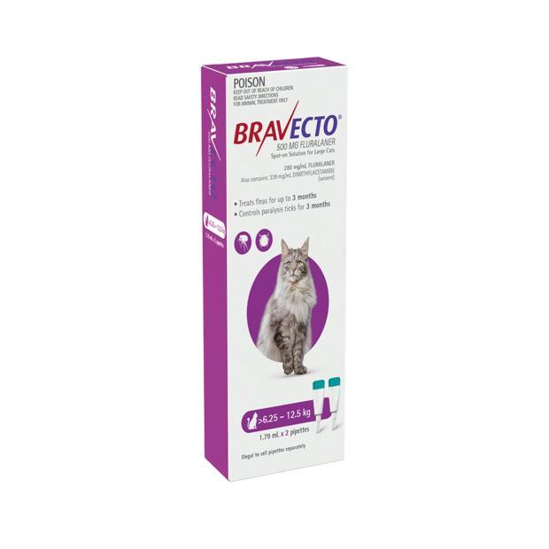 Bravecto Spot On For Cats Purple Protection 6 Month Pet: Cat Category: Cat Supplies  Size: 0kg  Rich...