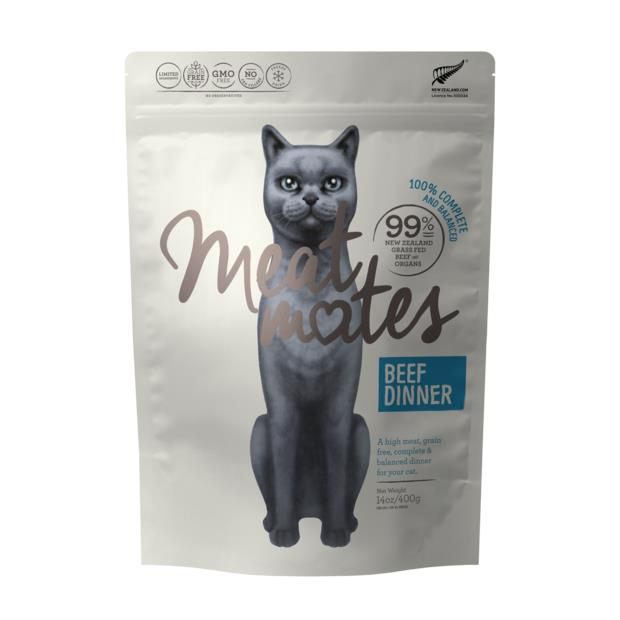 Meat Mates Grain Free Beef Dinner Freeze Dried Cat Food 400g Pet: Cat Category: Cat Supplies  Size:...