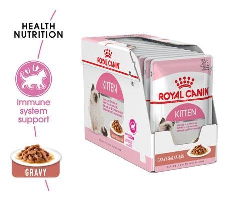 ROYAL CANIN KITTEN GRAVY WET FOOD IN GRAVY 85G 12 PACKDesigned for kittens, this cat food comes in...