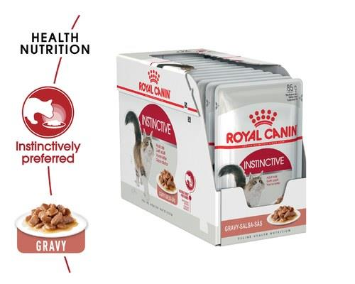 ROYAL CANIN INSTINCTIVE GRAVY ADULT CAT WET FOOD 85G 12 PACKDesigned for adult cats over 1 year old...