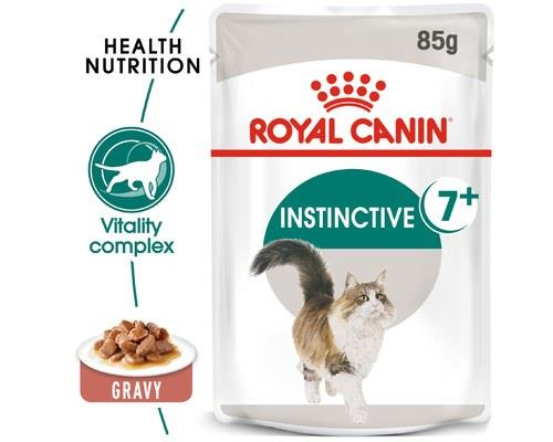 Royal Canin Instinctive 7+ in Gravy Wet Cat Food Pouches, 85gDesigned for adult cats over 7 years old...