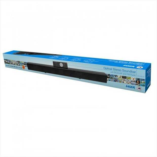 Experience amazing sound with Laser Optical Soundbar with FM and Bluetooth. With this compact soundbar...