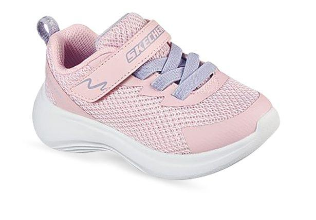 Embrace a sporty style in the Skechers Selector for kids. The stretch lace panels allow growing feet to...