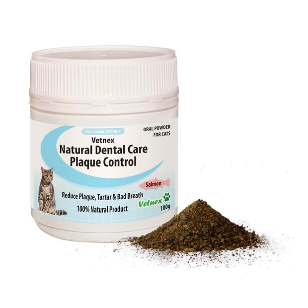 Vetnex Natural Dental Care Plaque Control Powder Salmon 100g Pet: Cat Category: Cat Supplies  Size:...