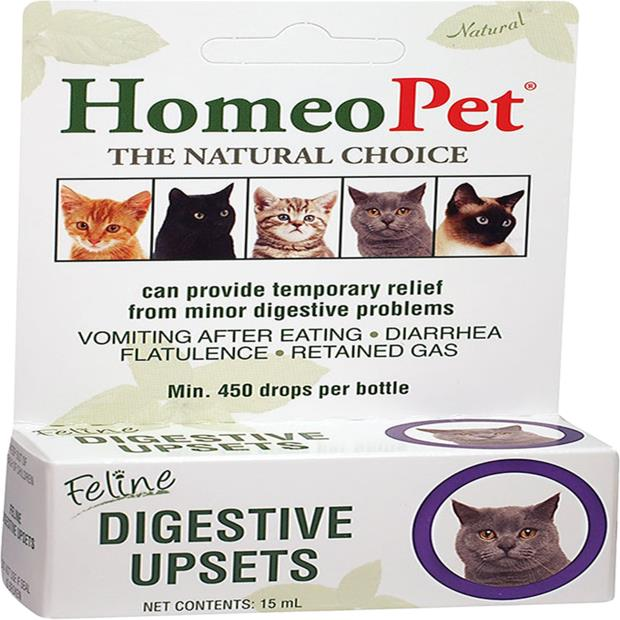Homeopet Feline Digestive Upsets 15ml Pet: Cat Category: Cat Supplies  Size: 0kg  Rich Description:...