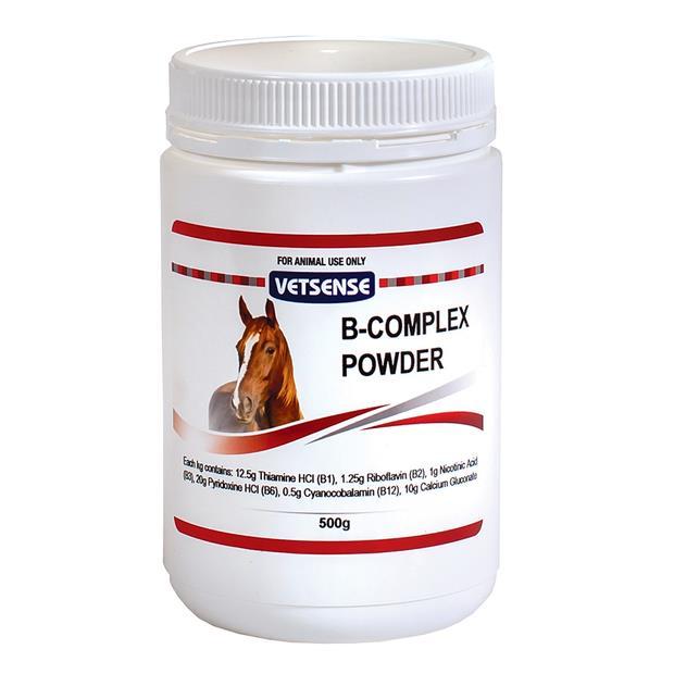 Vetsense Vitamin B Complex Powder 500g Pet: Horse Size: 0.6kg  Rich Description: Vetsense Animal Health...