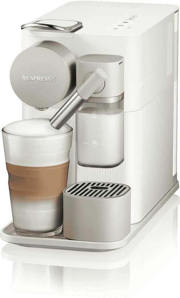 Start your morning right using the Nespresso Delonghi Lattissima One Capsule Machine. Prepare fresh...