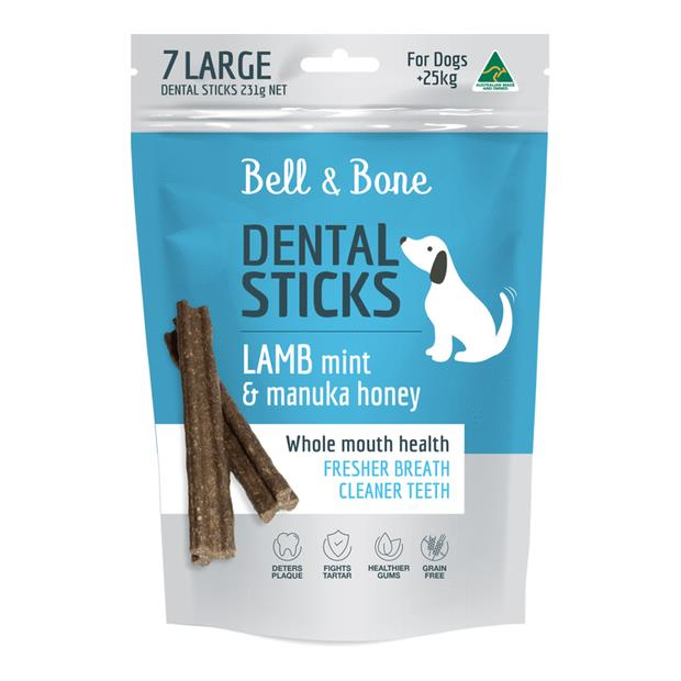 Bell And Bone Lamb Mint And Manuka Honey Dental Dog Treats Large Pet: Dog Category: Dog Supplies  Size:...