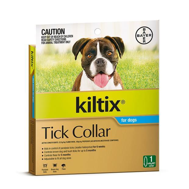 Kiltix Tick And Flea Collar Each Pet: Dog Category: Dog Supplies  Size: 0.3kg  Rich Description: The...