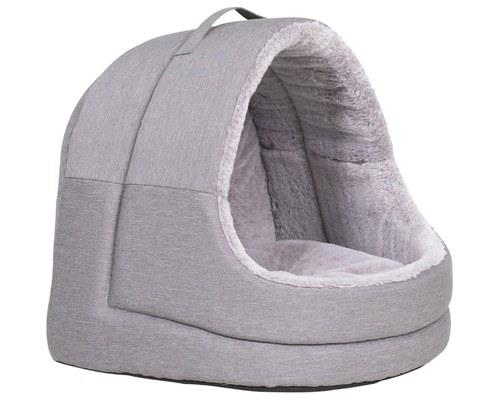 LA DOGGIE VITA CAT HOUSE HOODED GREYWe all know cats love boxes, but perhaps you can give them...