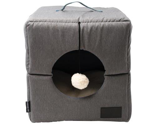 LA DOGGIE VITA CUBE GREY CAT BEDPaws-itively genius! This cat cube bed by La Doggie Vita offers the...